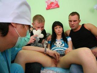 Double penetration of teen virgin.