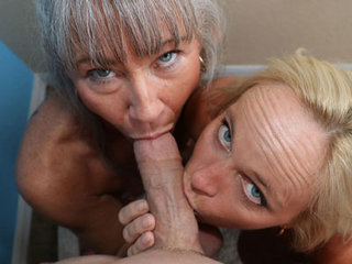 Two Moms One Giant Cum Load