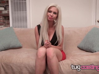 Puny Tatted Up Ash-blonde Hotty Gets Hefty Facial At Audition