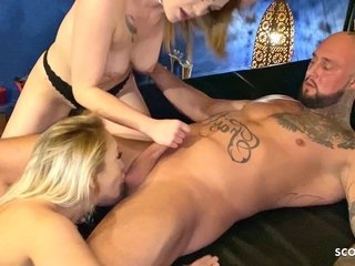 Real Call girl FFM Date with 2 German Call girl at P-Club Germany