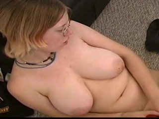 nerdy sara have fun with faux-cock