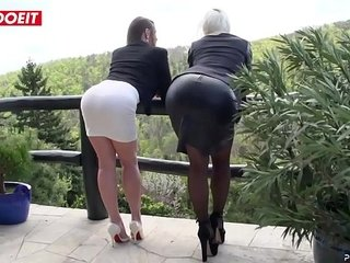 LETSDOEIT - Horny Nubiles Gang romped Xxx By Gigantic Cock Studs (Cathy Heaven & Vittoria Dolce)