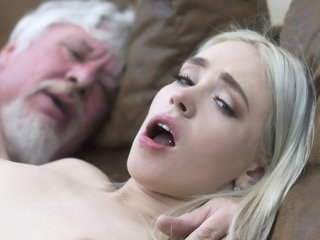 College college girl has fuck-a-thon with an gross elderly shag supah rock hard