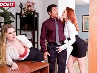 LETSDOEIT - Shows Us What You Got Boss! Sprocket Buttress Comprehend (Bunny Colby & Lacy Lennon)