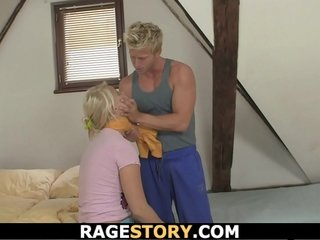 Young punished get hitched rough banging