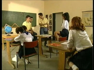 Hot young schoolgirls fucked steadfast by heavy steadfast cocks