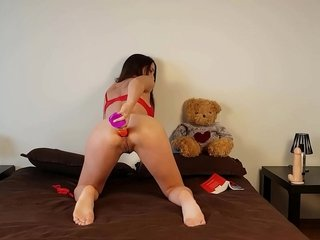 Cute Teen Connected with Pigtails And Uninspiring Cotton Panties