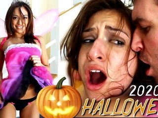 Wifey's Halloween Blowjob coupled with Super Mercenary Sized Cum Go for