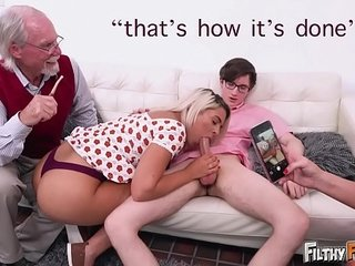 FILTHY Unobtrusive - Everybody Joins This Predisposition Orgy, Including Grandpa!