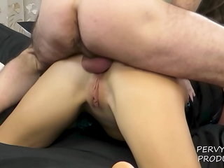 Stepdaughter gets the brush FIRST ANAL